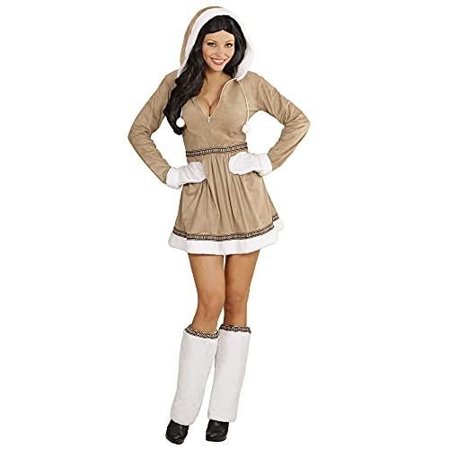 Widmann - Kostüm Eskimo Girl, Kleid mit Kapuze, Stulpen und Handschuhe
