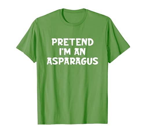 Pretend I'm An Esprragos Lazy Disfraz de Halloween Verde Camiseta