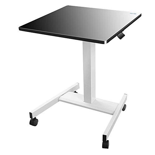 Desks DD Sit Stand mobiel werkstation, rollen, One-Touch hoogte aanpassing met slot, staande omvormer, mobiele werkbank