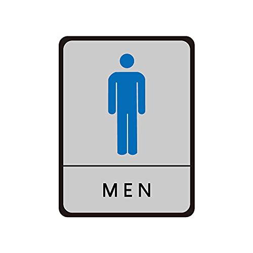 ★新商品★【サインキングダム】トイレ標識 サインプレート WC お手洗い 飲食店 男性用 女性用 共用 車イス対応 車椅子 障害者 障がい者 多目的 4種[gs-pl-toiJ] (MEN)