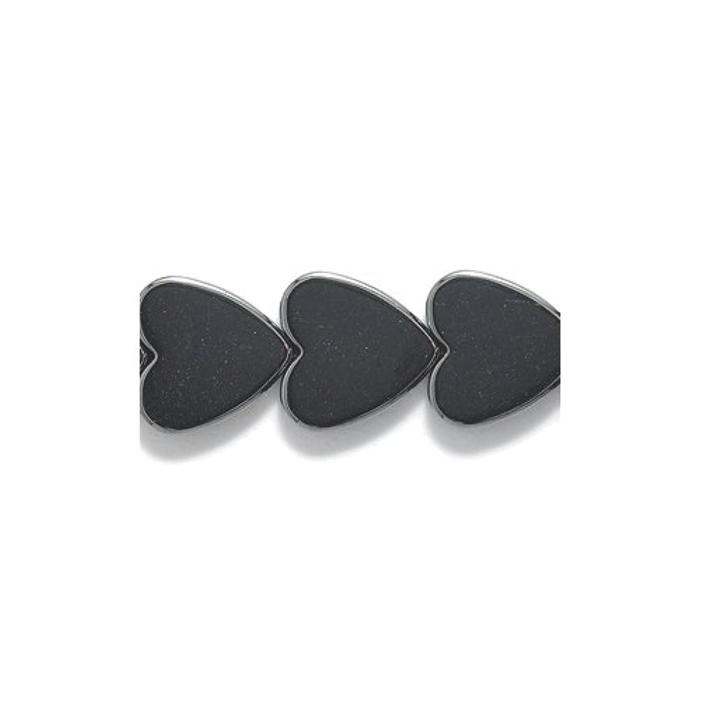Shipwreck Beads Hematite Heart Bead, 10-mm, 86-Piece/Pack