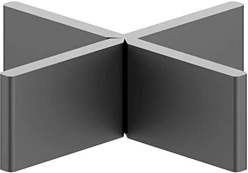 100 Stück Profi Fugenkreuze 3mm 4mm für Terrassenplatten Feinsteinzeug Abstandhalter Platten Kreuze nach DIN EN ISO 9001:2008 15mm Höhe T-Stück Schenkel abbrechbar 100% recyceltes Material (4mm)
