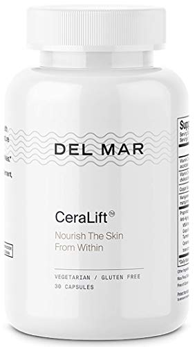 Del Mar Labs - CeraLift - 30 Day Supply - Doctor Formulated - for Reduction in Appearance of Fine Lines and Wrinkles - Anti-Aging Ceramides and Antioxidants - Vegetarian Capsules