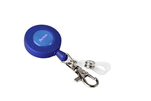 Tarifold Es 200511- Cordón Extensible, Llaves, Tarjetas Identificación con Enganche Botón y Mosquetón, color Azul- 10 unidades