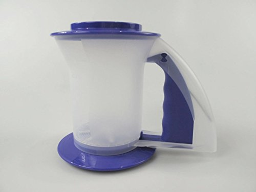 Tupperware Backen Rucki-Zucki blau/lila Puderzucker Mühle Mehl Kakao Backhelfer 34476