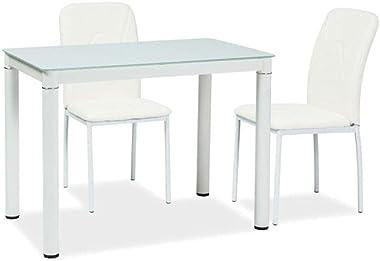 SIGNAL MEBLE Table 4 Personnes - Galant - 100 X 60 X 75 Cm - Blanc