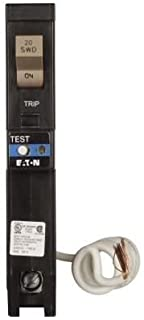 Eaton CHFAFGF120 Plug-On Mount Type CH Dual Purpose AFCI/GFCI Circuit Breaker 1-Pole 20 Amp 120 Volt AC