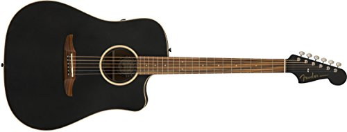 Fender Redondo Special - Guitarra acústica de la serie California - acabado negro mate con bolsa de concierto