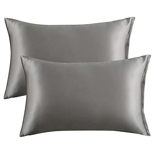 AnXiongStore Funda de Almohada de Seda de imitación Estilo Europeo y Americano Ropa de Cama cómoda y Transpirable Funda de Almohada