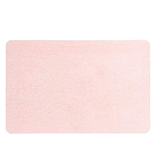 LH-RUG Alfombra de baño de diatomita para Ducha,de Secado rápido,antimicrobiana,ecológica,de Tierra de diatomeas,para Ducha de baño,Segura para niños y Ancianos (60x39cm,Light Pink)