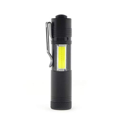 Willlly 3504 draagbare zaklamp Xpe + Cob LED Power zaklamp Chic waterdichte zaklamp 4 modi zoombare buitenverlichting zwart Sale Home dagelijks gebruik product Size Colour