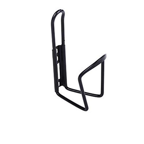 RENNICOCO - Portabotellas para Bicicleta (aleación de Aluminio, 2 Tornillos), Negro, 15 cm