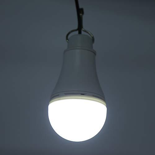 Lámpara de bombilla USB, fácil de transportar, bajo consumo de energía, bombilla USB, material de aleación de aluminio resistente y duradero para emergencias de camping