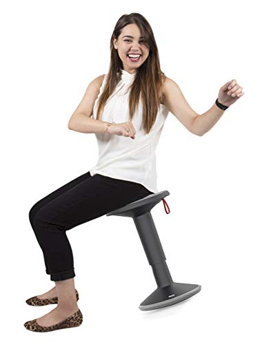Stand Steady Active Motion Stool | Wobble While You Work! | Premium Ergonomic Stool/Ergonomic Office Chair for Comfort & Back Pain Relief - Made in Germany (Black)