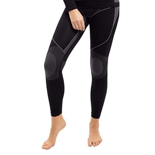 Gomati Damen Thermo Unterhose Seamless Funktionswäsche schnelltrocknend - Grau L-XL