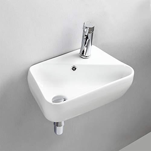 Handwaschbecken Klein, Gimify Mini Waschbecken wc zur Wandmontage aus Keramik Wasserhahn Bad