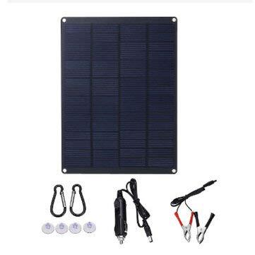 WZhen 18V Portable Solar Panel Kit Al Aire Libre Camping Car Caravan Boat Charger Batería Cod