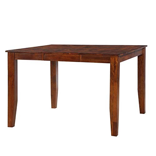 Pemberly Row 54' Dining Table with Removable Leaf in Brown