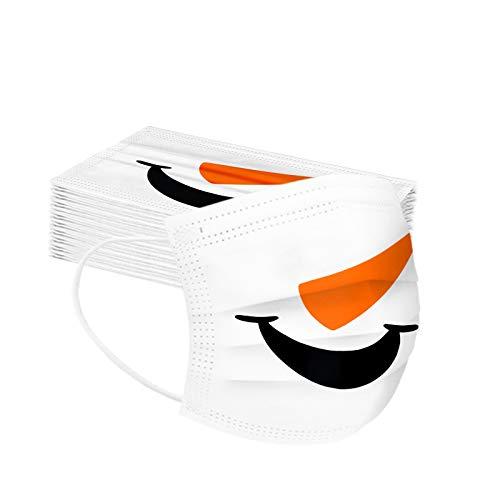 Stück Einweg Mundschutz,Einweg 𝓜ąske Multifunktionstuch Bandana Face Cover Maske 3-lagig Staubdicht Atmungsaktiv Mund-Nasen Bedeckung Halstuch Schals (50PC-B)
