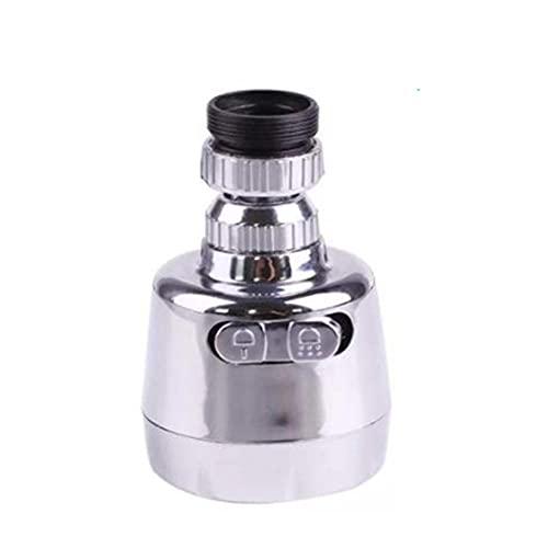 Grifo Anti-Salpicadura Grifo Universal Dispositivo de Extensión La función doble de rotación del aireador del grifo de 360 grados, se usa para lavar la boca.