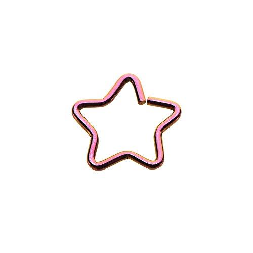 BodyJewelryonline 18ga Adultos Estrellas Forma Anillo Nariz,