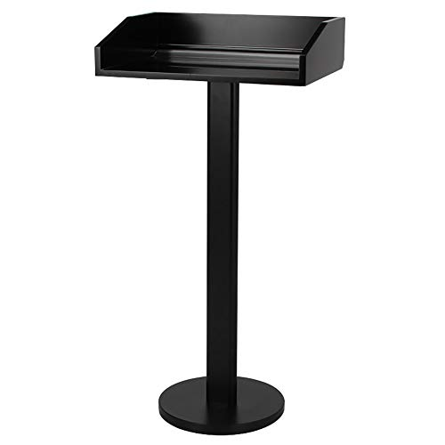 DHTOMC Stehpult Hotel Restaurant Eingang Podium Willkommen Tabelle Speaking Bühne Zeremonienmeister Informationsstand (Color : Black, Size : One Size)