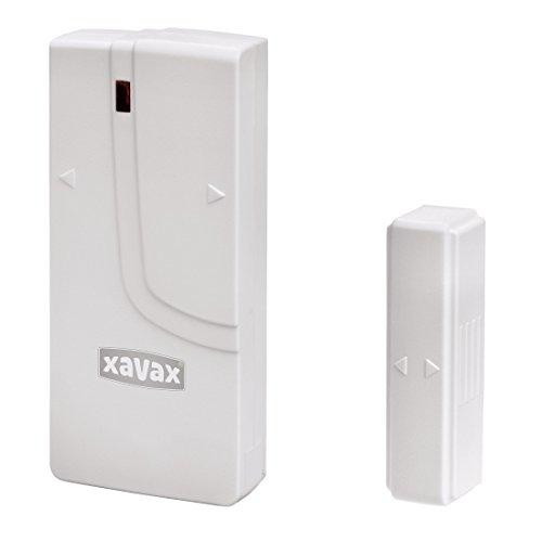Xavax Fenstersensor/Türsensor für Funk Alarmanlage FeelSafe (als Ersatz oder zur Erweiterung) magnetischer Sensor, selbstklebend