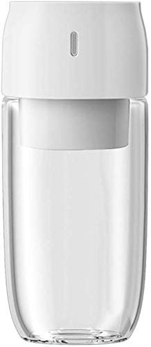 YXZQ Exprimidor, Licuadora Personal Exprimidor de Vidrio portátil Exprimidor inalámbrico Mini USB Exprimidor Recargable Botella de Viaje 300ML Batido de Jugo, Blanco