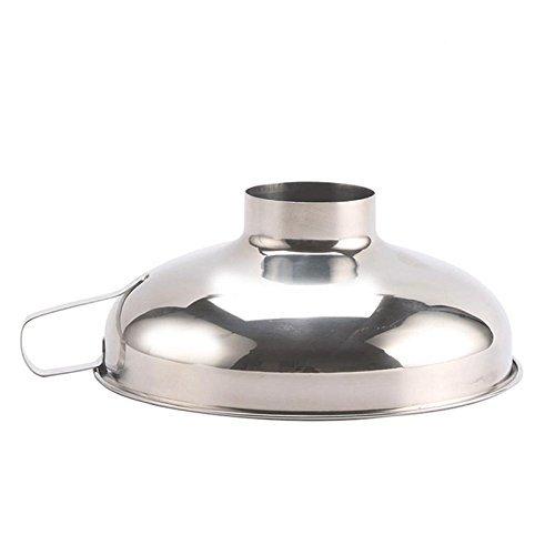 SODIAL Embudo de boca ancha embudo de acero inoxidable Filtro de la tolva de la comida Embutidos Jam Embudo Gadgets de cocina Herramientas de cocina