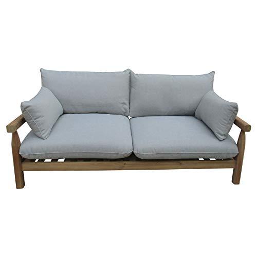 OUTLIV Firenze 2-Sitzer Loungebank für den Garten mit Gestell aus Teakholz und Polstern aus Polyester
