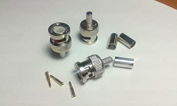 100PCS BNC Plug Crimp Connectors for RG58 RG-58 Coax Male Adapter