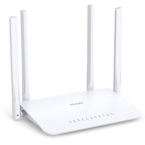Victure WiFi Router AC1200 for Home, Wireless Router, Dual Band WiFi Router with 4 Gigabit LAN Ports, Coverage up to 3500 sqft, Supports Beamforming, Guest Wi-Fi, WISP