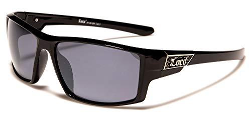 LOCS Biker Gangs Sport Sonnenbrille Hardcore Shades Brille Choppers OG (SCHWARZ-LC91126)