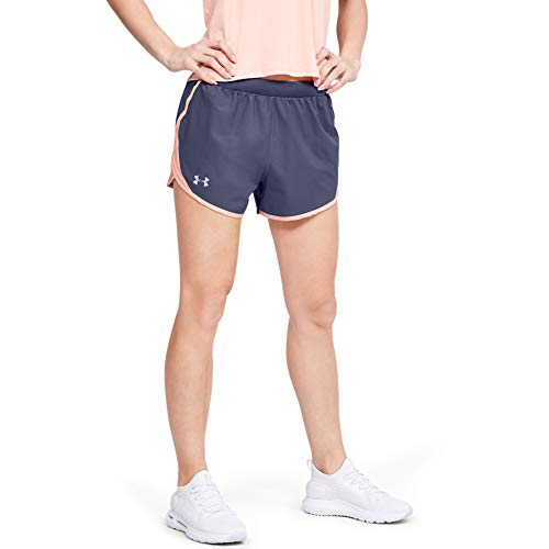 Under Armour Women's Fly By 2.0 Running Shorts , Blue Ink (497)/Reflective , Small
