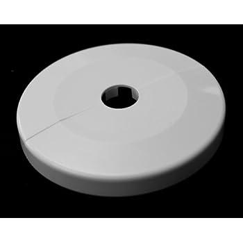 22mm 27mm 43mm; ABS 10 ST/ÜCK Einzel-Rosetten f/ür Heizungsrohre Au/ßendurchmesser: 85mm 12mm, cremewei/ß RAL 9001 18mm Heizung 16mm 12mm,15mm 34mm