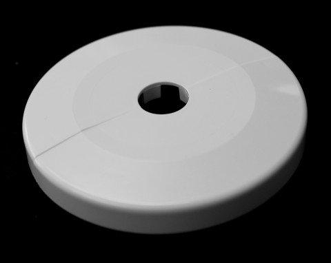 Einzel-Rosetten für Heizungsrohre, Außendurchmesser: 85mm, Heizung, 2 Stück, 12mm,15mm, 16mm, 18mm, 22mm, 27mm, 34mm, 43mm; ABS (16mm, cremeweiß RAL 9001)