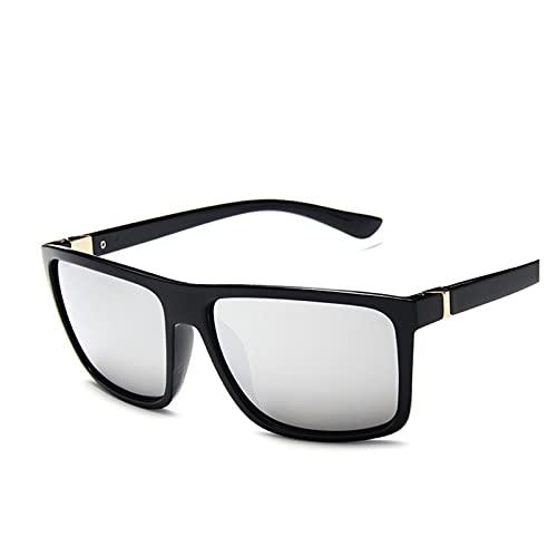 MINGQIMY Gafas de Sol Classic Men's Brand Design Sunglasses Hombres Mujeres Driver Shades Hombre Vintage Gafas de Sol Hombres Espejo Verano (Lenses Color : C6)