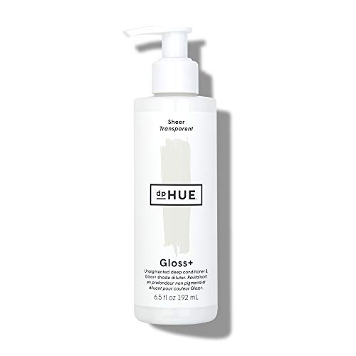 dpHUE Gloss+ - Sheer, 6.5 oz - Unpigmented Deep Conditioner & Gloss+ Shade Diluter - Add Shine to Natural or Color-Treated Hair - Gluten-Free, Vegan