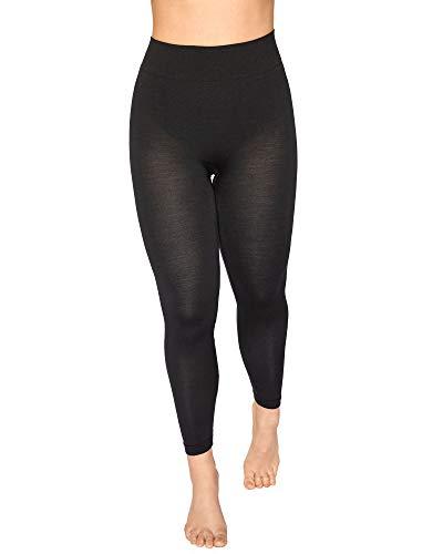 Relaxsan Zero 3200 (Negro, S) Pantalón Térmico Mujer Malla Térmica Ropa Interior en Lana Merino y Fibra Dryarn