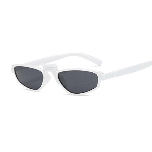 Sharplace 3xUnisex Gafas de Sol de Viaje Al Aire Libre con Marco Pequeño Marco Blanco Lente Gris Negro