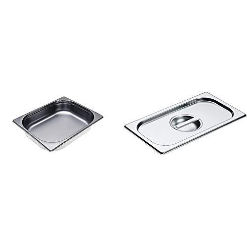 Miele DGG 3 ungelocht Dampfgarerschale edelstahl/Boden geschlossen & Deckel für alle Dampfgarbehälter / 325x176 mm/edelstahl