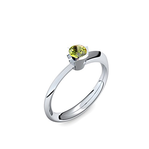 Platin Ring Peridot 950 + inkl. Luxusetui + Peridot Ring Platin Peridotring Platin (Platin 950) - Devious Amoonic Schmuck Größe 62 (19.7) MW14 PL950PEFA62