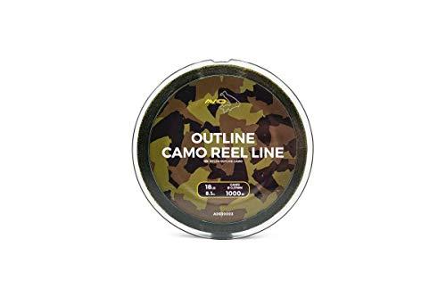 Avid Carp Outline Camo Reel Fishing Line 1000m: 18lb