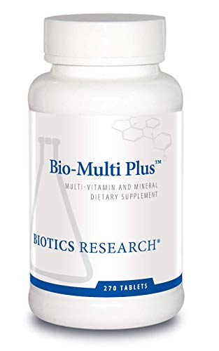 Biotics Research Bio Multi Plus Multivitamin, Chelated Minerals, Emulsified Fat Soluble Vitamins, High antioxidants, SOD, Catalase 270 Count
