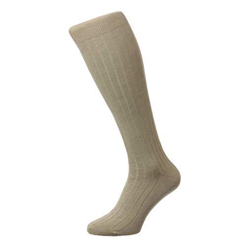 Pantherella Herren-Socken mit Pembrey-Motiv, Baumwolle - Braun - Medium