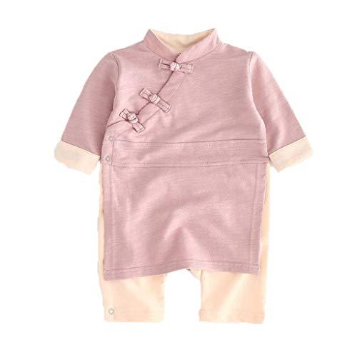 VEKDONE Newborn Unisex Baby Pajamas Cotton Kimono Robe Romper One Piece Jumpsuit Toddler Clothes Sleepwear(Hot Pink,18-24 Months)
