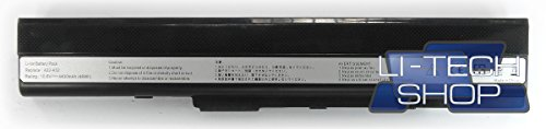LI-TECH - Batería Compatible con ASUS X52J-SX480V, 10,8 V, 11,1 V, 6 Celdas, Color Negro