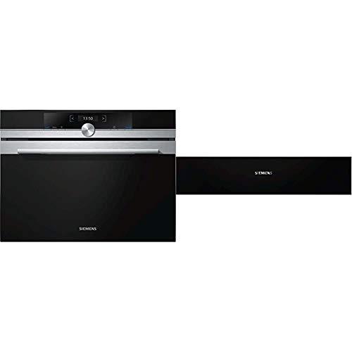 Siemens CF634AGS1 iQ700 Mikrowelle / 900 W / 36 L/TFT- Display & BI630ENS1 iQ700 Kochfeld/Zubehörschublade/Edelstahl