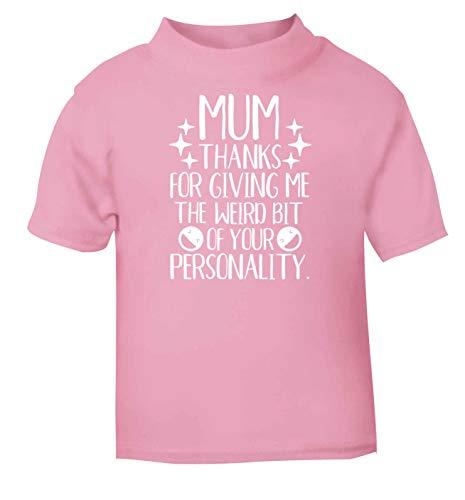 Flox Creative Baby T-Shirt Mum Love More Than Halloumi Nero Neonato rosa chiaro 1-2 Anni