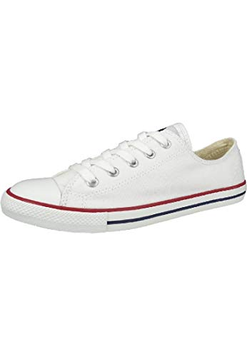 Converse Chucks 537204C AS Dainty Basic OX Tex Weiss White, Groesse:EUR 37